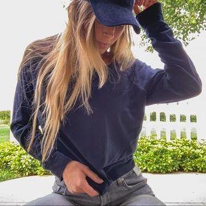 Gilly Hicks Navy Casual Long Sleeve Shirt Top